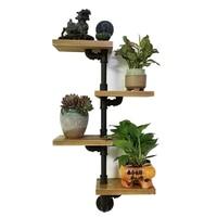 4 Shelves Wood Floating Wall Shelf