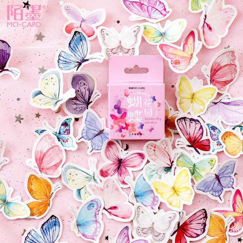 45 قطعة محظوظ يونيكورن ملصقات يوميات Kawaii اليدوية ورق لاصق تقشر اليابان ملصقا سكرابوكينغ القرطاسية السفر ملصقات