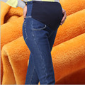 High Quality Winter Maternity Denim Pant Maternity  Elastic Slim Leggings Jeans Autumn Skinny Trousers For Pregnant Women