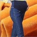 La alta Calidad Del Invierno Pantalón de Mezclilla de Maternidad de Maternidad Elástico Delgado Leggings Pantalones Vaqueros Otoño Pantalones Flacos Para Las Mujeres Embarazadas