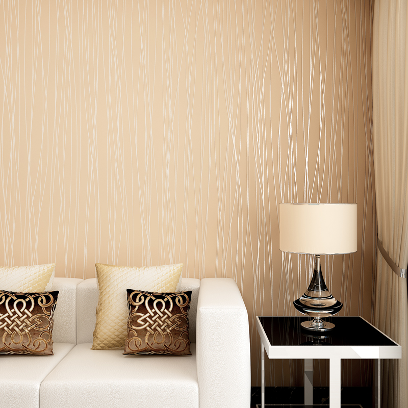 Hot Sale Beautiful Reflective Glitter Stripes Wallpaper Modern Elegant  Solid Living Rooms 3D Wallpapers Grey Pink White WZ027 In Wallpapers From  Home ...
