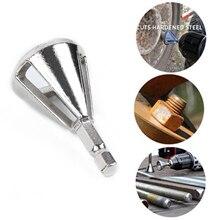 1 * CR12MOV Hohe Festigkeit Härte Bohrer Entfernen Grat Entgraten Externe Fase Werkzeug Silber Hex schaft