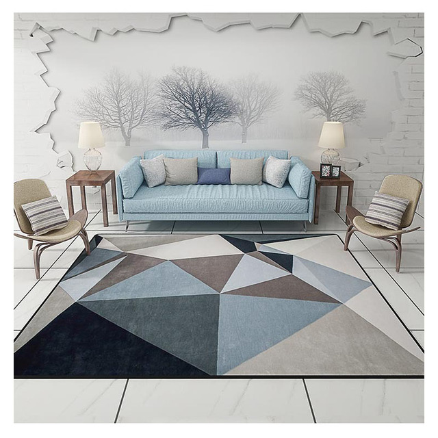Modern Carpets For Living Room Rectangle Geometric Area Rugs Large Anti Slip Safety Carpet Kids