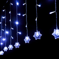 Snowflake Christmas Lighting 2M*0.6M 60LEDs Holiday Wedding Party Decoration String Lamp Waterproof Fairy Xmas LED Curtain Light