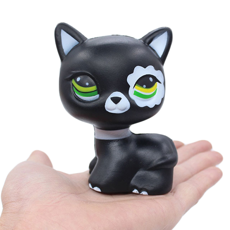 New Kawaii Black Cat Squishy Kitty Doll Creative Squeeze Toy Slow Rising Simulation Bread Scented Stress Relief For Kid Fun Gift