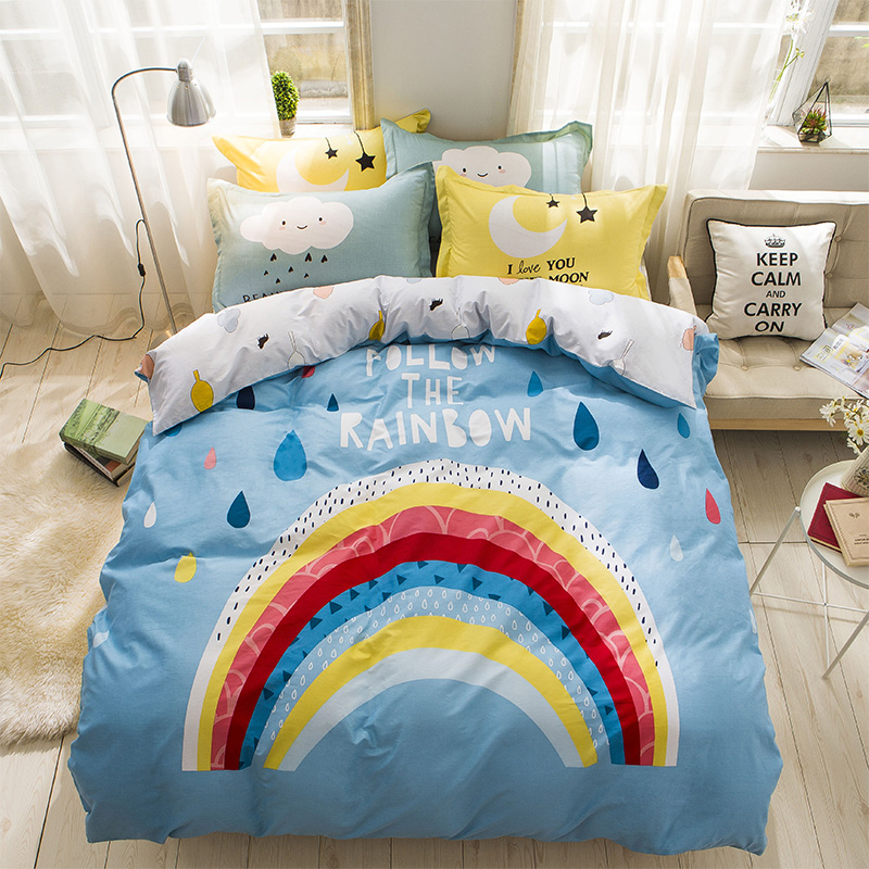 Kids Bedroom Linen kids rainbow bedding promotion-shop for promotional kids rainbow
