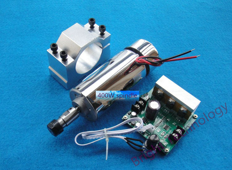 ER11 48V 400W brush three-piece high-speed air-cooled spindle motor spindle engraving machine spindle PCB dc110v 500w er11 high speed brush with air cooling spindle motor with power fixed diy engraving machine spindle