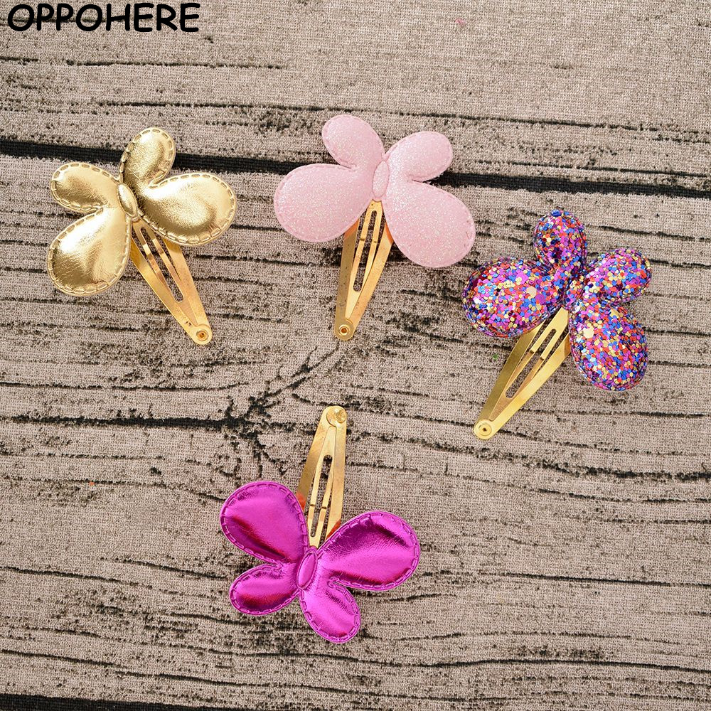 cc6c490021 Baby Girls Hair Accessories Sequins Heart Butterfly Barrettes Glitter Stars  BB Clip Hair Clips Kids ...