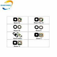 QiAN SiMAi New Rear Camera Glass & Adhesive sticker for Huawei Honor 3C / Play 3C 4C 6 6PLus 7 7i mobile phone(China)
