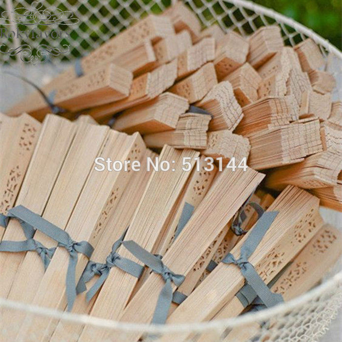 Free Shipping 30pcs Eco Fridenly Sandalwood Fans Tied With Silver