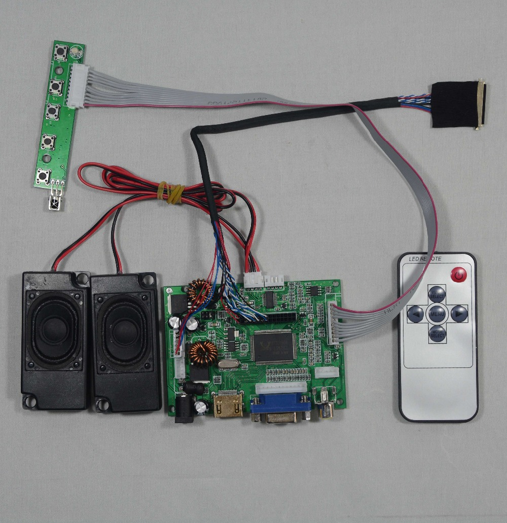HDMI+VGA+2AV+Audio LCD driver board work for 7~10.1inch B101EW05 1280x800 Lcd hdmi vga 2av lcd driver board vs ty2662 v1 71280 800 n070icg ld1 ld4 touch panel