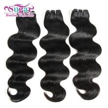7A Brazilian Body Wave 3Bundle Deals Sugar Virgin Hair Brazilian Virgin Hair Body Wave Wet Wavy Virgin Brazilian HumanHair Weave