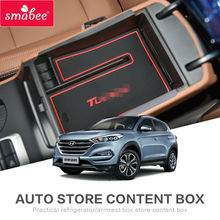 For Hyundai Tucson 2015 2016 Car Center Console Tray central armrest box Interior Accessories Stowing Tidying