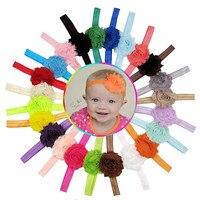 More Funny Hot Product 23PCS Elastic Headband Chiffon Flower Photography Headband Hair Accessories For Girls Coroa