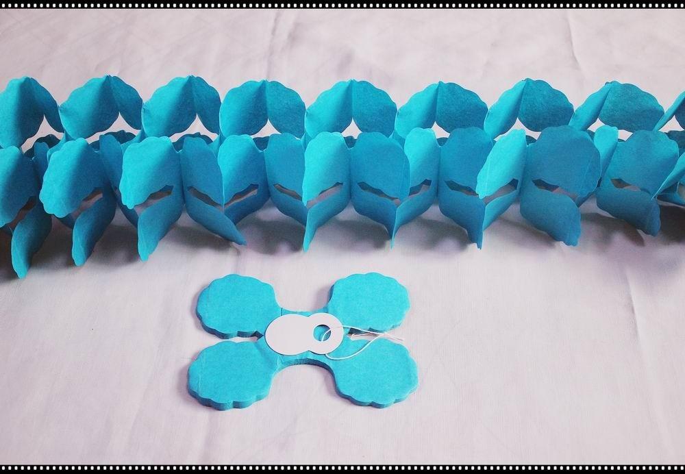 Besplatna dostava 3M Četiri Leaf Djetelina Papir Garlands Party - Za blagdane i zabave - Foto 6