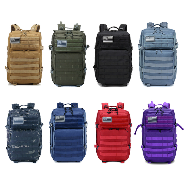 45L Man/Women Hiking Trekking Bag Military Tactical Backpack Army Waterproof Molle Bug Out Bag Outdoor Travel Camping Backpack 5