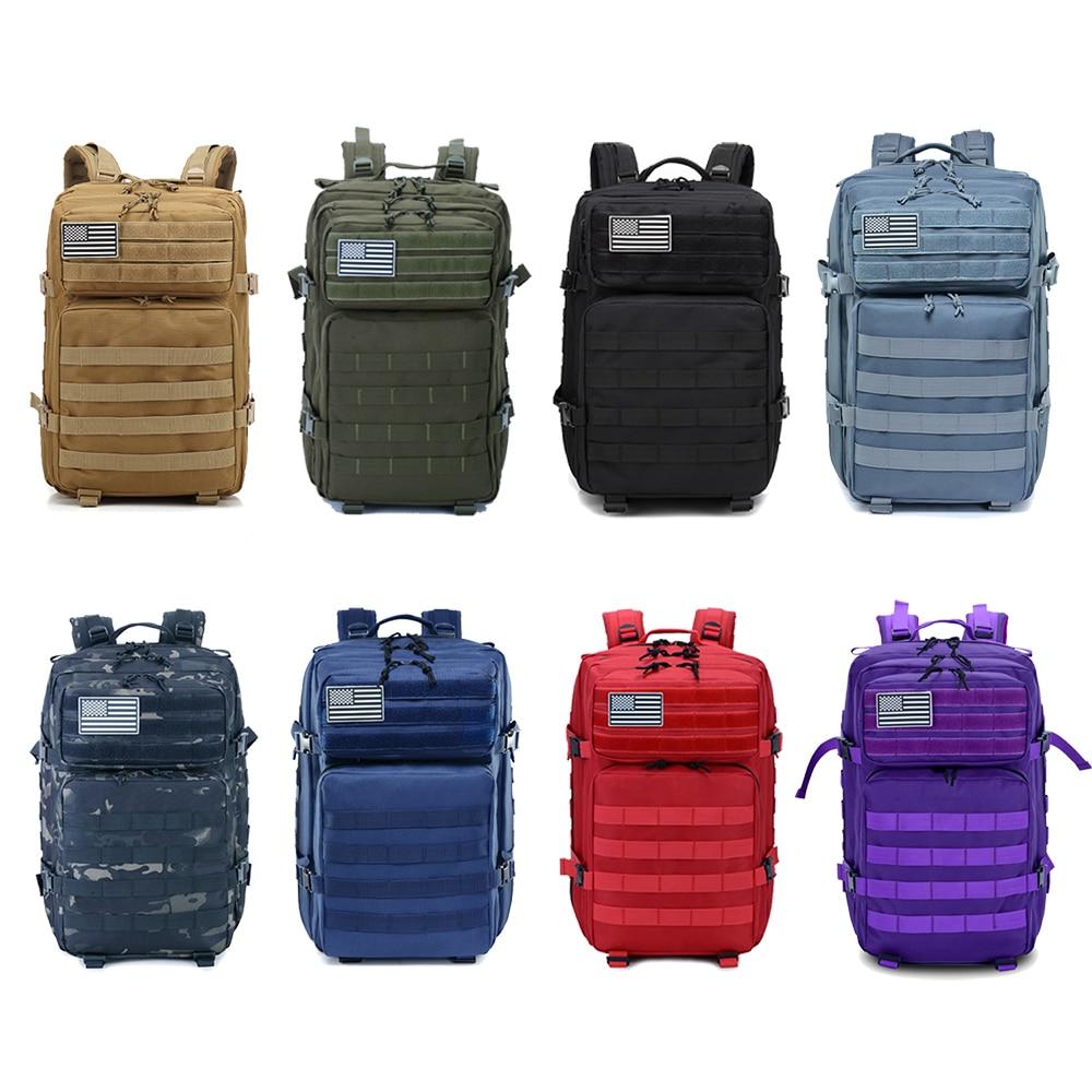 45L homme/femmes randonnée Trekking sac militaire tactique sac à dos armée imperméable Molle Bug Out sac extérieur voyage Camping sac à dos - 5
