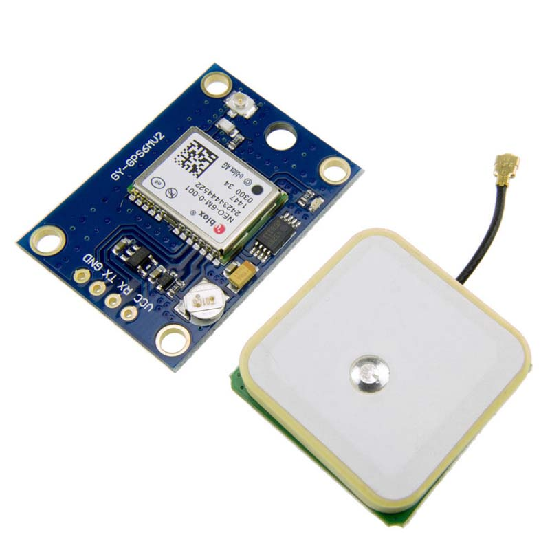Ublox NEO-6M GPS GY-NEO6MV2 GY-GPS6MV2 Module with Flight Control APM2 APM2.5 ST Connectors--M25  free shipping gy neo6mv2 gy gps6mv2 block new flight control gps module with eeprom mwc apm2 5 flight control