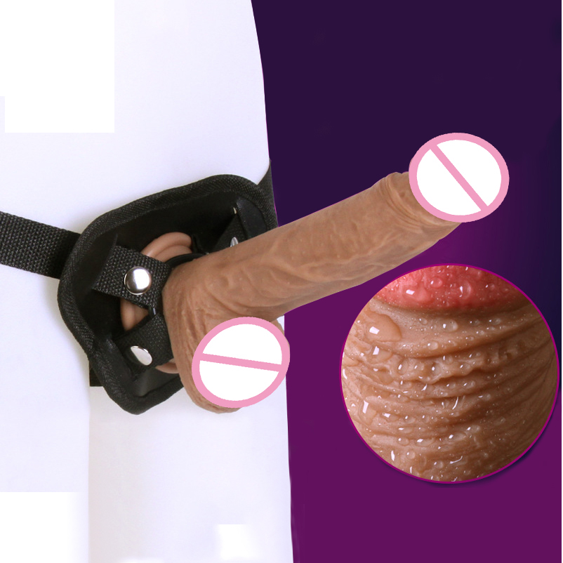 New Strap On Dildo Pants Artificial Realistic Penis Lesbian Sex Toys For Woman Strapless Strapon Panties Silicone Dildos Dick women wear double penis strap on dildo pants for lesbian gay sex toys strapon harness dildos anal butt plug strap ons panties