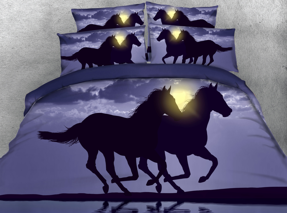 JF 113 Majestic Running Horse bedding sets California king size ...