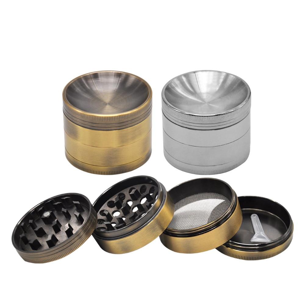 HORNET Multi Funcal Concave Herb Grinder 4 Մաս 55 55 MM Zinc Alloy CNC Metal Herb Grinder Spice Grinder Chromium Crusher