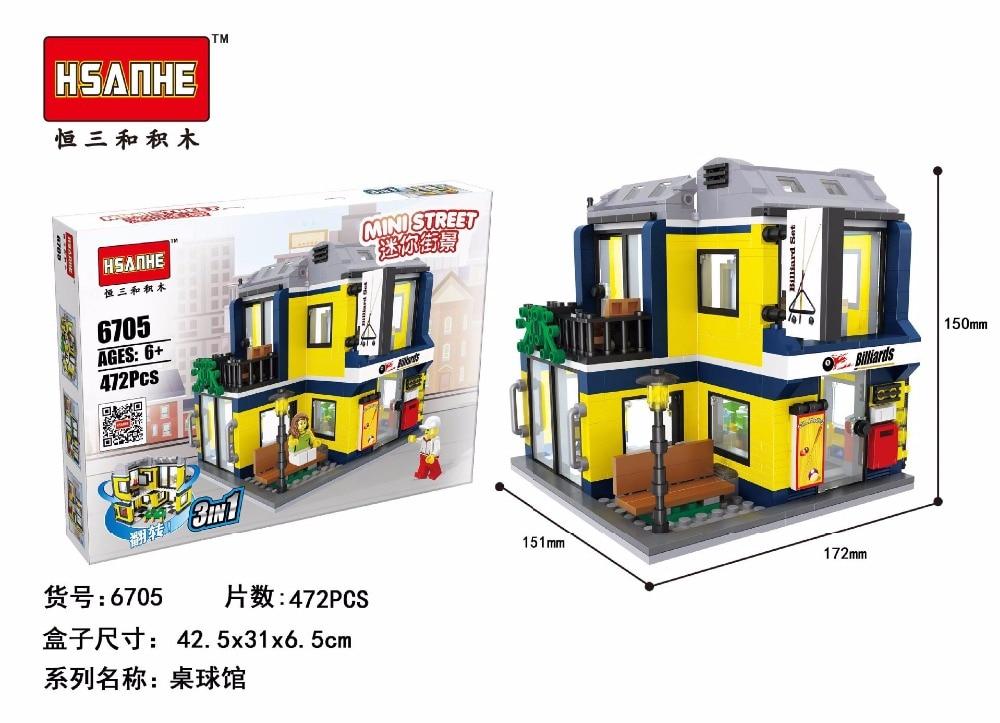 Hsanhe City Series Building Blocks street Store Arcs