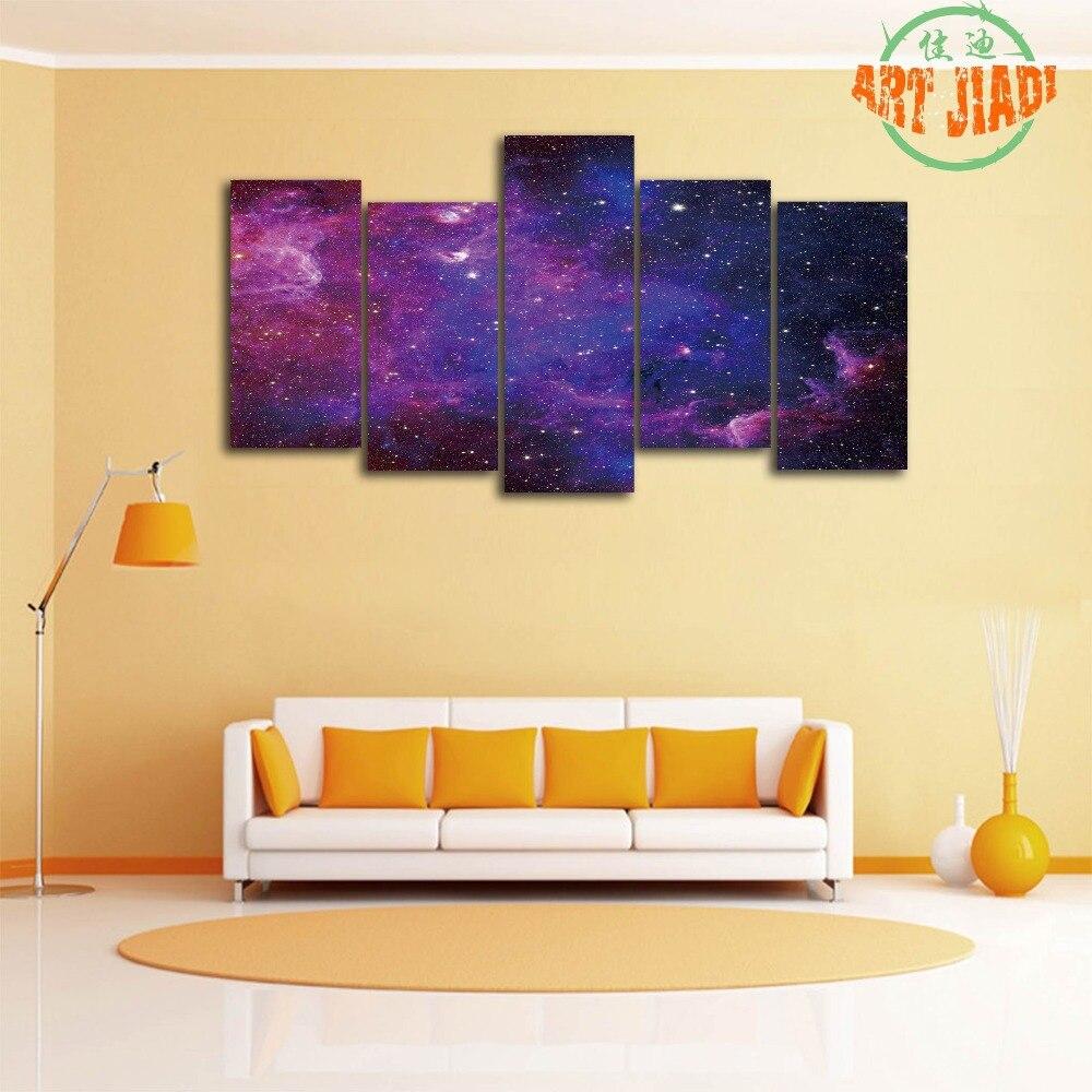 Colorful Carina Nebula 5 Pieces/sets Canvas Art Canvas Paintings HD ...