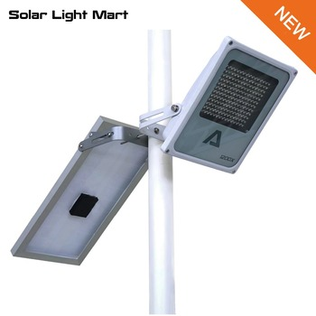 Alpha 1200X 3 Power Modes 180LED 300-1400lm 5m Cable Auto Solar Powered LED Street Light Outdoor Waterprooof Lamp Pole Light