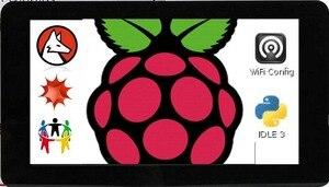 Image 2 - Mới Màn Hình Cảm Ứng 7 Inch Màn Hình 10 Ngón Tay Cảm Ứng Điện Dung W/DSI Người Lái Tàu Dành Cho Raspberry Pi 4 3 B +