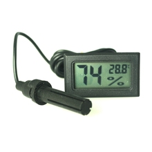 Digital Fridge Thermometer Hygrometer Mini Temperature Humidity Meter with Waterproof Sensor