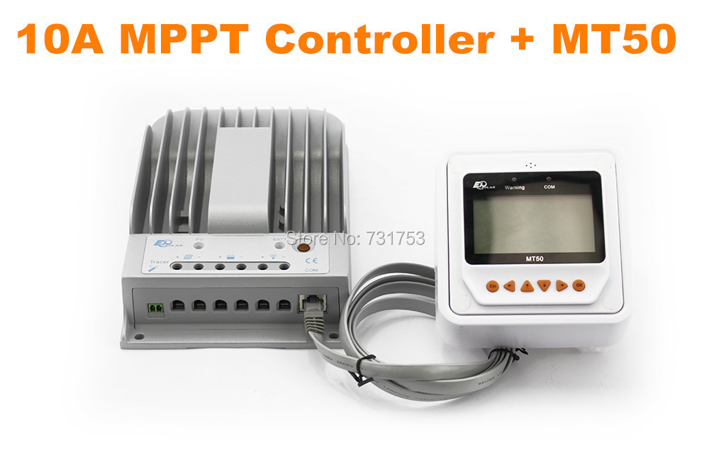 MAYLAR@ 10A 12V 24V New Tracer 1215BN 10 amps Programmable MPPT Solar Charge Controller With MT50 LCD Display Remote Meter