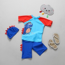 Chumhey 2-6 T Brand 3 Pieces Sets Baby boys swimwear UV 50+ sun protection infant bathing suit beachwear swimsuit diving surfing