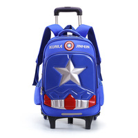 High Quality Triple Wheels Children's School Bag Detachable Backpack Fashion Trolley Kids Backpacks Children trolley School Bag