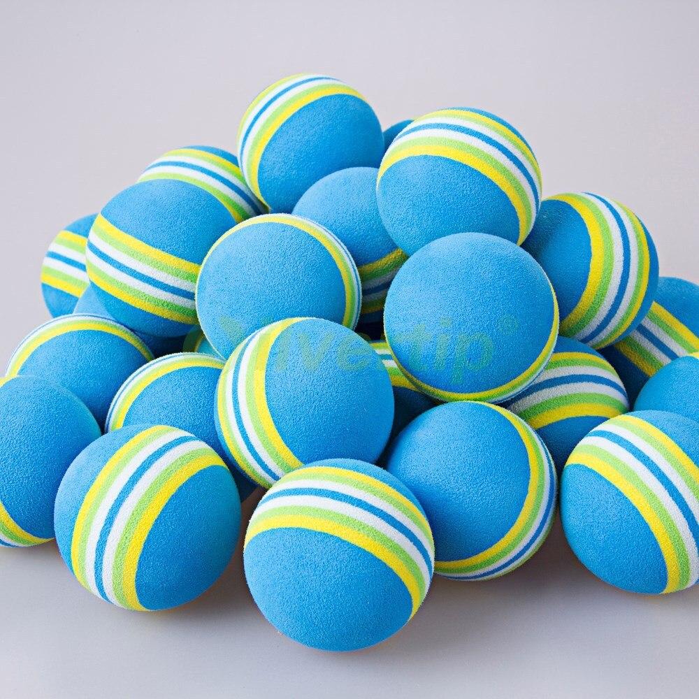 Free Shipping 100pcs bag Blue Rainbow EVA Foam font b Golf b font Balls Sponge font
