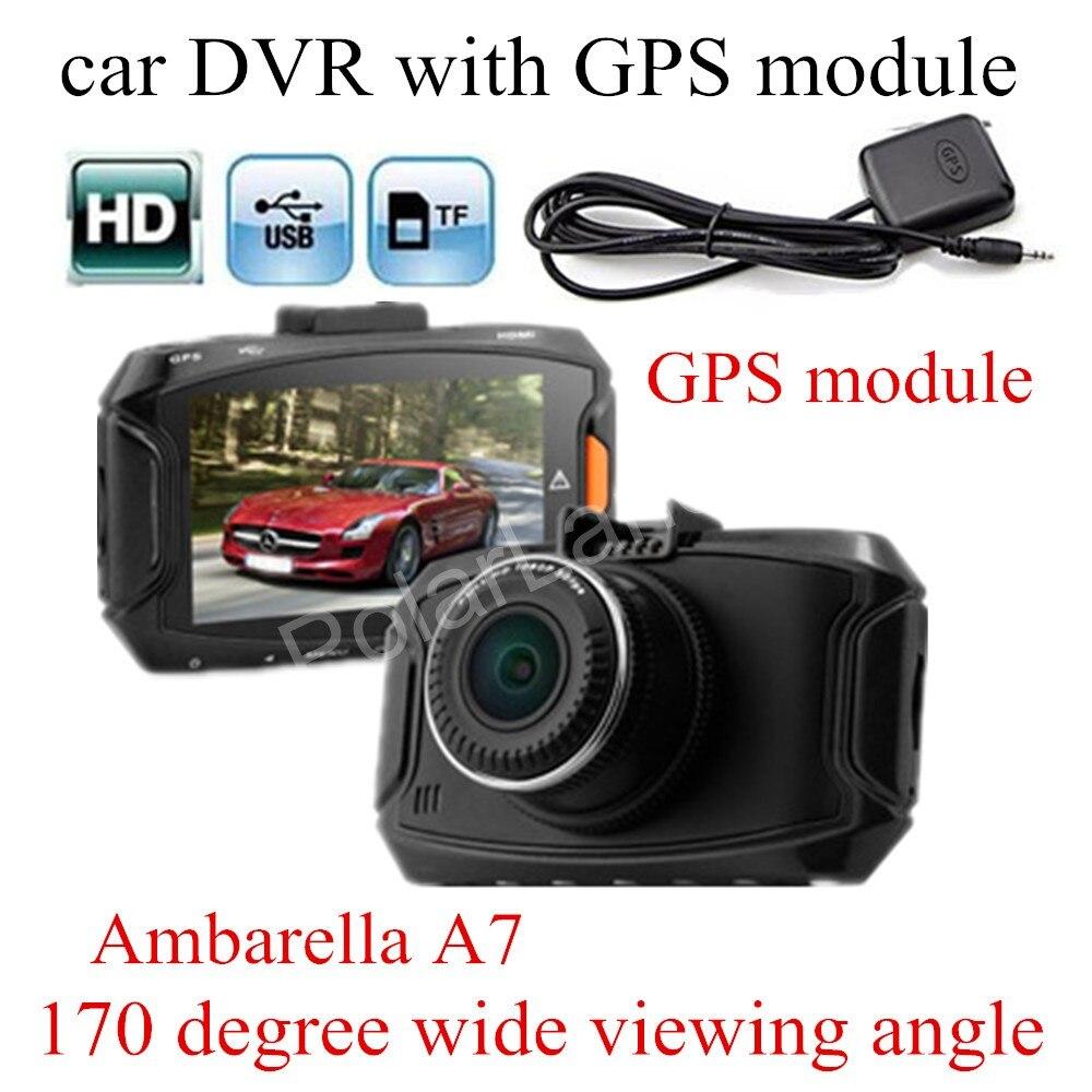 GS90A Ambarella A7LA50 Car DVR HD Car Camera Recorder with GPS module Night Vision Dash Cam 2.7 inch LCD