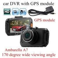 GS90A Ambarella A7LA50 Car DVR HD Car Camera Recorder With GPS Module Night Vision Dash Cam