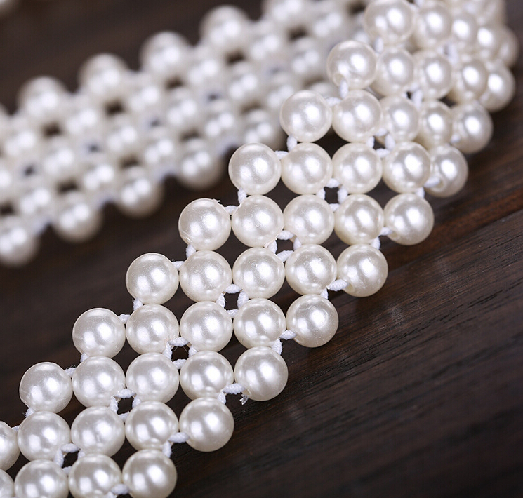 Flor hermosa perla cinturones para las mujeres cinturón elástico blanco  verano estilo mujeres cinturón Accesorios de boda en Las mujeres cinturones  de ... dd8e37ce4088