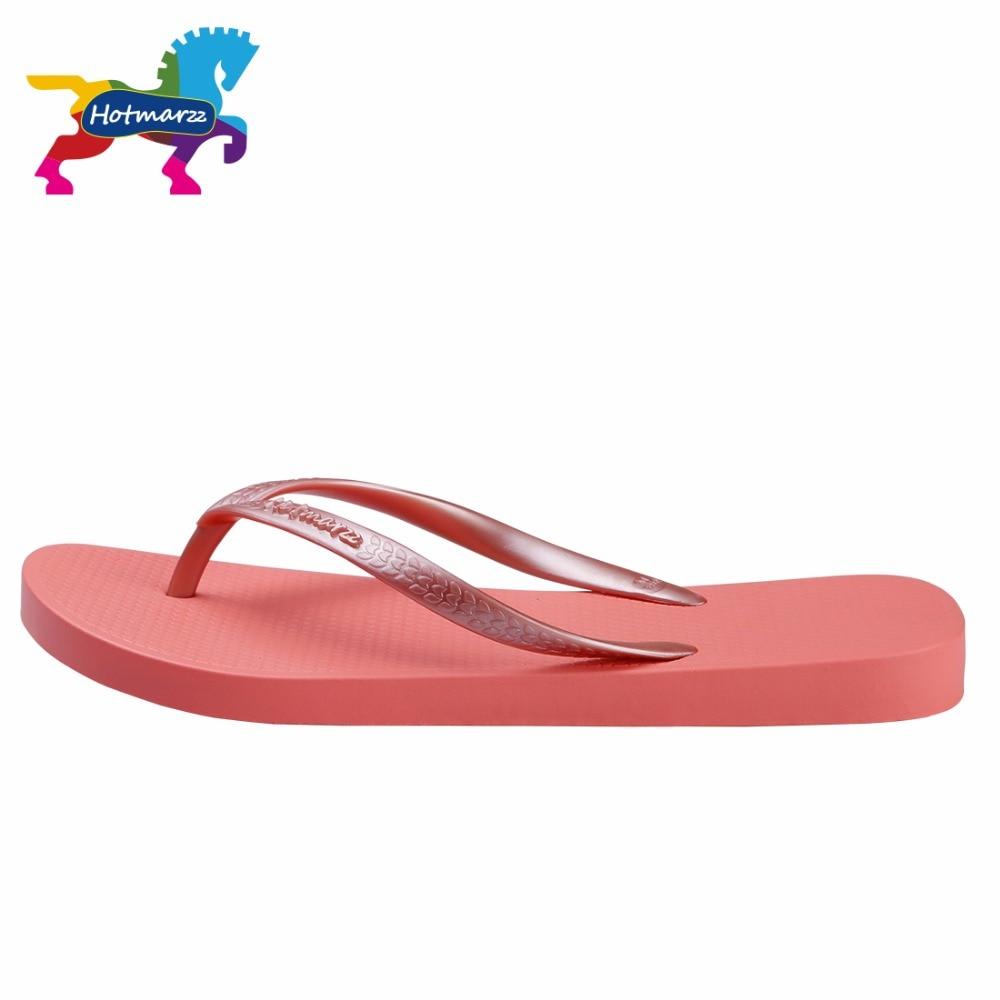 Image 3 - Hotmarzz Women Red Flip Flops Sandals Slim Slippers Summer Beach Shoes Rubber Designer Brand Slides House Shower Slippersshower slippersslimming slippersslippers summer -