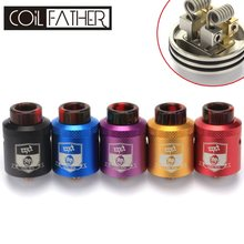Coil Father King RDA Drop Atomizer 810 Drip Tip 24mm Tank Adjustable Airflow For Electronic Cigarette Squonk Box Mod(China)