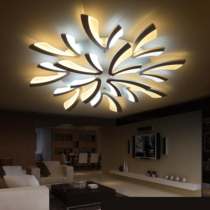 buy 110v 220v acrylic modern ceiling light plafondlamp ceiling decoration flush. Black Bedroom Furniture Sets. Home Design Ideas