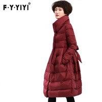 Estación de Europa 2016 de invierno femenina abrigo productos Europeos Una versión loak abajo chaqueta femenina párrafo largo princesa instalado