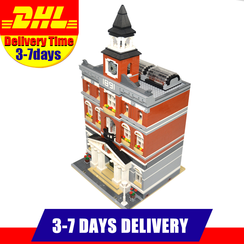 2016 DHL Lepin 15003 2859 PCS City  Town Hall Sets Model Building Kits Set Blocks Compatible With 10224 lepin 02012 city deepwater exploration vessel 60095 building blocks policeman toys children compatible with lego gift kid sets