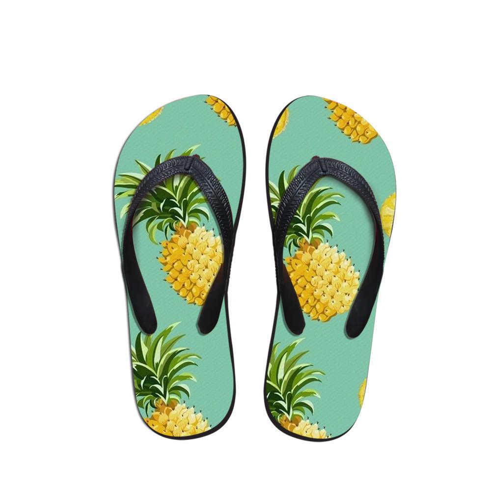 تخصيص شبشب رجالي بإصبع الصيف الأناناس نمط النعال رجل عادية إيفا حذاء الصيف موضة صنادل شاطئ السفر بالجملة