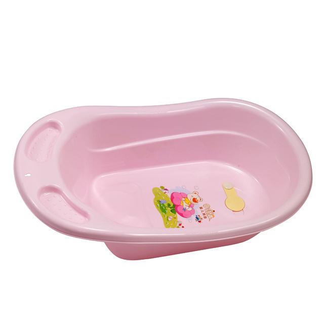 Baño del bebé Inflable Piscina infantil Bañera Grifo Mezclador Plástico Bañeras Bebés Sólidos Verde Bebé Pp de Spike Nadar