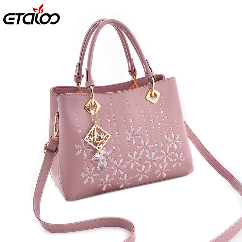 Female bag 2018 new bag sweet lady fashion handbag Messenger shoulder bag leather bags women недорго, оригинальная цена