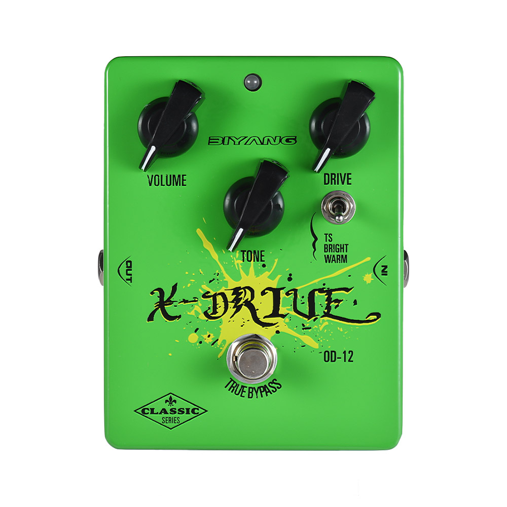 BIYANG OD 12 Guitar Effect Pedal Classic Series Analog Overdrive 3 Modes True Bypass Full Metal