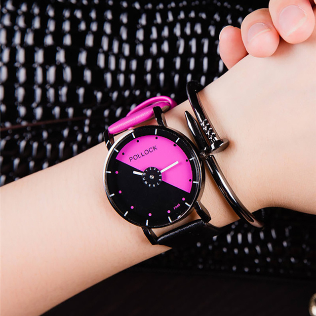 Top Luxury Famous Brand Unisex Watches Sweet Pink Color Women Watches 2016 Femal