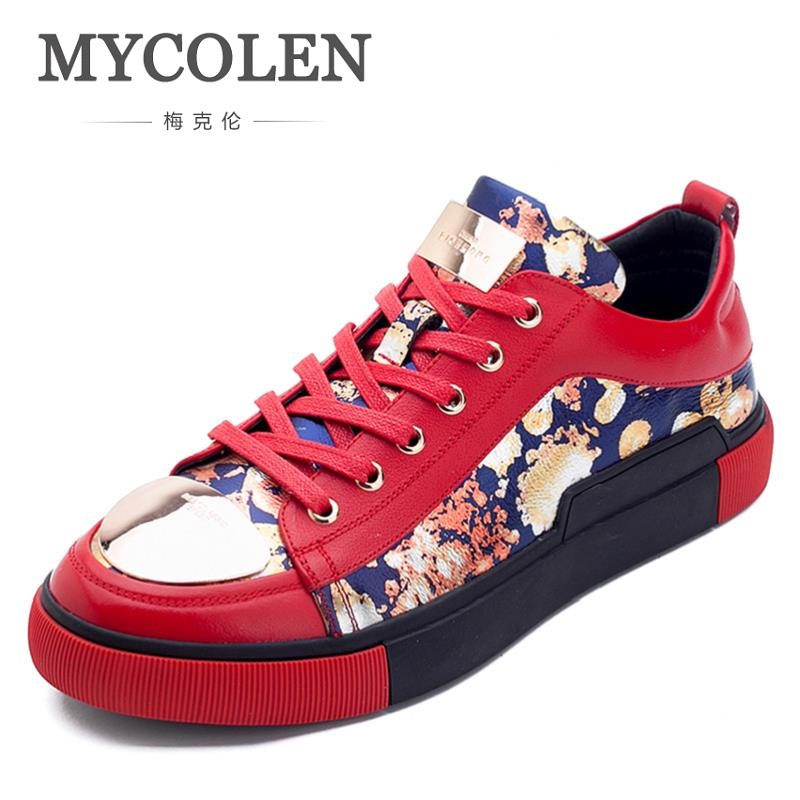MYCOLEN 2018 Spring Thick Sole Breathable Men Shoes Casual Platform Sneakers Fashion Walking Male Shoes Scarpe Uomo PelleMYCOLEN 2018 Spring Thick Sole Breathable Men Shoes Casual Platform Sneakers Fashion Walking Male Shoes Scarpe Uomo Pelle