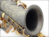 Copy France Henri Selmer Alto Saxophone Reference 54 Gold Bonded Grind Arenaceous Black Body
