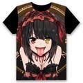 [Xinyu] Hot DATE A LIVE T-shirt cosplay Yatogami Tohka AnimeT Camisa Dos Homens de Manga Curta T-shirt Mulheres Tops
